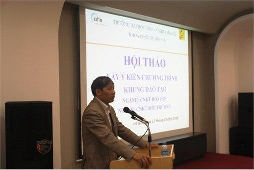 """Hội thảo """"Lấy ý kiến chương trình khung ngành CNKT Hóa học và ngành CNKT Môi trường"""""""