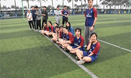 Giải bóng đá nữ HSSV Khoa Ngoại ngữ 2018
