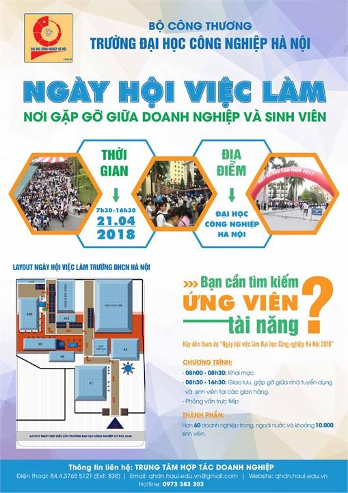 Thư mời tham gia ngày hội việc làm Trường Đại học Công nghiệp Hà Nội năm 2018