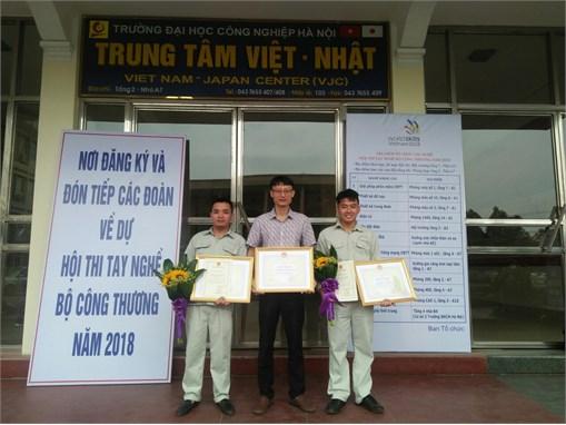 Sinh viên TT Việt Nhật xuất sắc giành giải cao trong Hội thi tay nghề Bộ công thương năm 2018