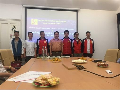 Sáu sinh viên Đại học Công nghiệp Hà nội sẵn sàng chinh phục kỳ thi Olympic Vật Lý toàn quốc lần thứ XXI-2018.