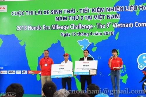 Đội tuyển Super Cup 50 Khoa Công nghệ Ô tô Trường ĐHCNHN vô địch cuộc thi Lái xe sinh thái - Tiết kiệm nhiên liệu Honda 2018 được tổ chức ở Việt Nam.