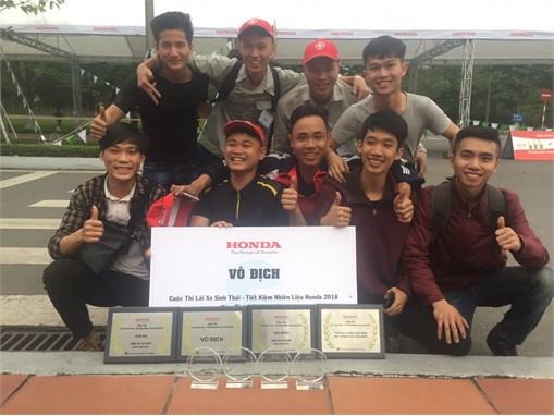 Đội tuyển SUPERCUB 50 – Đại Công nghiệp Hà Nội vô địch cuộc thi Lái xe sinh thái - Tiết kiệm nhiên liệu Honda 2018