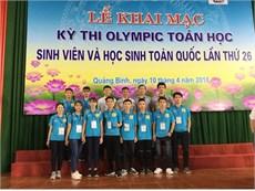 Đoàn Olympic Toán ĐHCNHN giành HCV trong kỳ thi Olympic Toán học Sinh viên và Học sinh toàn quốc năm 2018
