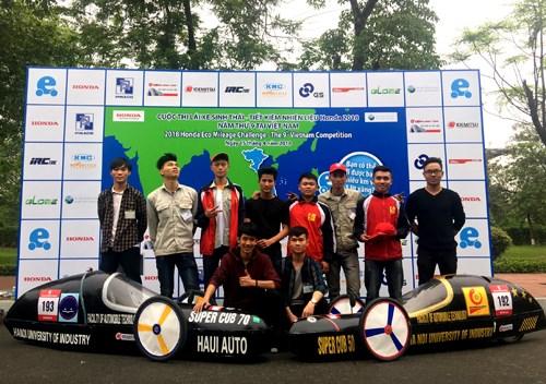 Đội tuyển SuperCup 50 vô địch cuộc thi Lái xe sinh thái - tiết kiệm nhiên liệu Honda 2018
