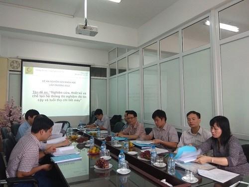 Nghiệm thu đề án NCKH cấp khoa năm 2018 do PGS.TS Vũ Quý Đạc chủ nhiệm