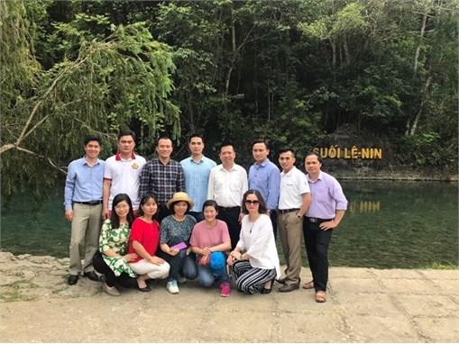 Chi bộ Khoa Công nghệ Hóa sinh hoạt chuyên đề tại Khu Di tích lịch sử Pác Bó - Cao Bằng