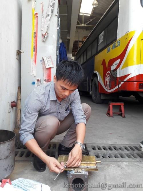 Buổi Thử nghiệm thiết bị TEG trên động cơ D1146 Trên xe Bus tại Xí nghiệp xe Bus Thăng Long
