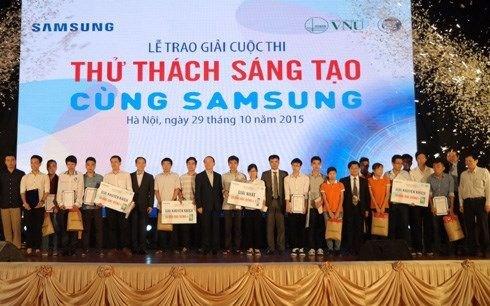 Lễ trao giải cuộc thi `Thử thách sáng tạo cùng Samsung`