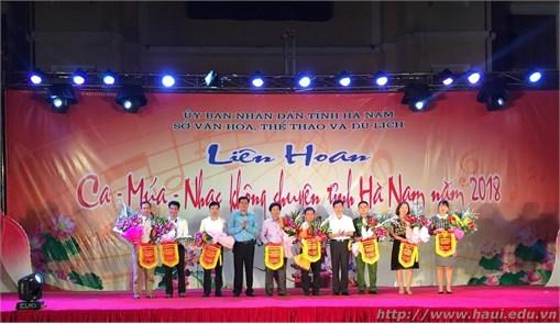 Đại học Công nghiệp Hà Nội đạt thành tích xuất sắc tại Liên hoan Ca - Múa - Nhạc không chuyên tỉnh Hà Nam 2018