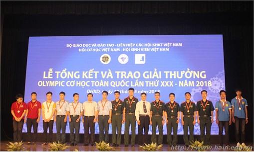 Đại học Công nghiệp Hà Nội đạt 24 giải cá nhân và 1 giải Nhất đồng đội tại Olympic Cơ học toàn quốc lần thứ 30