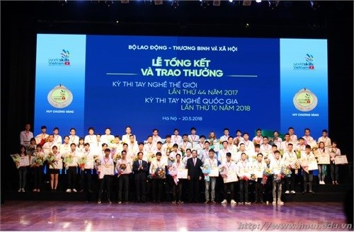 Lễ bế mạc Kỳ thi tay nghề quốc gia lần thứ X năm 2018