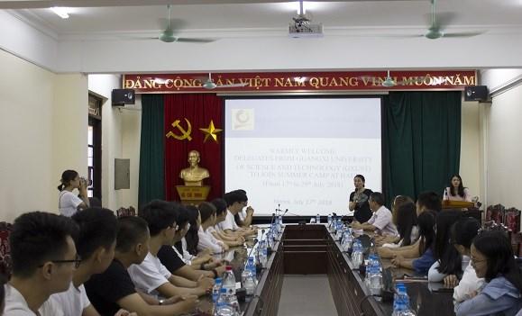 25 sinh viên Đại học Khoa học Kỹ thuật Quảng Tây tham gia chương trình giao lưu văn hóa hè tại Đại học Công nghiệp Hà Nội