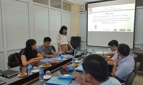 Nghiệm thu đề án nghiên cứu khoa học cấp khoa do PGS.TS Phạm Thị Minh Huệ chủ nhiệm