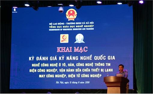 184 thí sinh tham dự kỳ đánh giá kỹ năng nghề quốc gia đợt VIII năm 2018 tại Đại học Công nghiệp Hà Nội