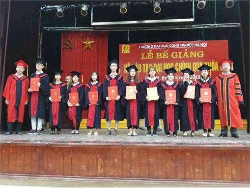 Lễ bế giảng và trao bằng tốt nghiệp đại học K9 của sinh viên khoa Công nghệ hóa