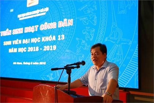Sinh viên Đại học K13 và Cao đẳng K20 học tập tuần sinh hoạt công dân, năm học 2018 – 2019