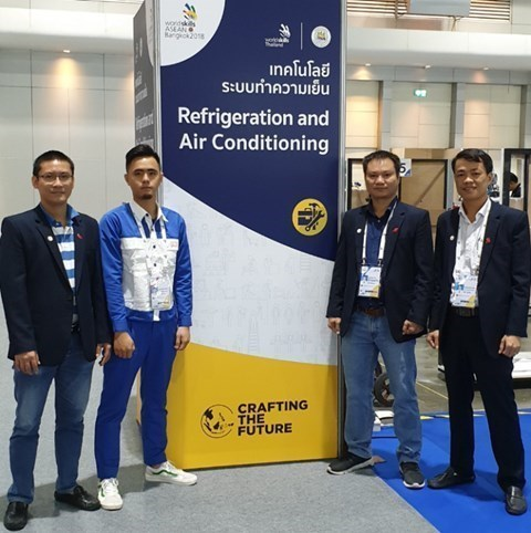 Thí sinh ngành Điện Lạnh, khoa Điện đạt Huy Chương Đồng tại Kỳ thi tay nghề Asean lần thứ 12