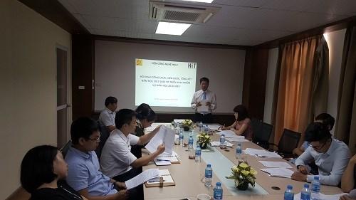 Viện Công nghệ HaUI tổ chức Hội nghị Cán bộ viên chức năm 2018