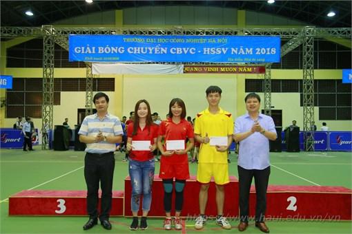 Chung kết Giải bóng chuyền Cán bộ viên chức, học sinh sinh viên Đại học Công nghiệp Hà Nội năm 2018