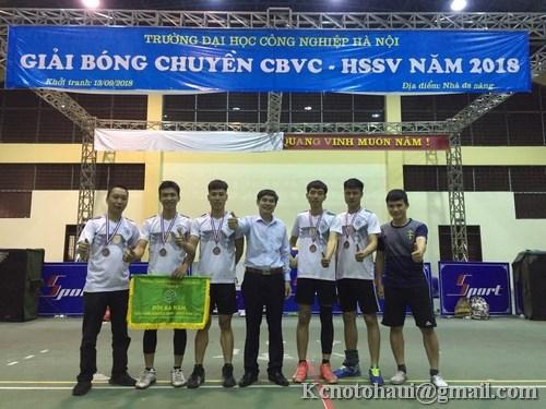 Khoa Công nghệ ô tô đạt giải 3 giải đấu bóng chuyền nam CBGV- HSSV năm 2018