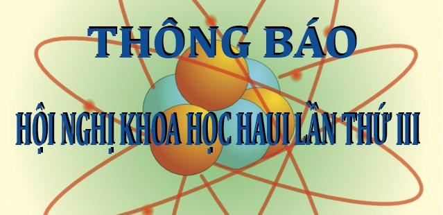 Thông báo Hội nghị Khoa học HaUI Lần thứ III
