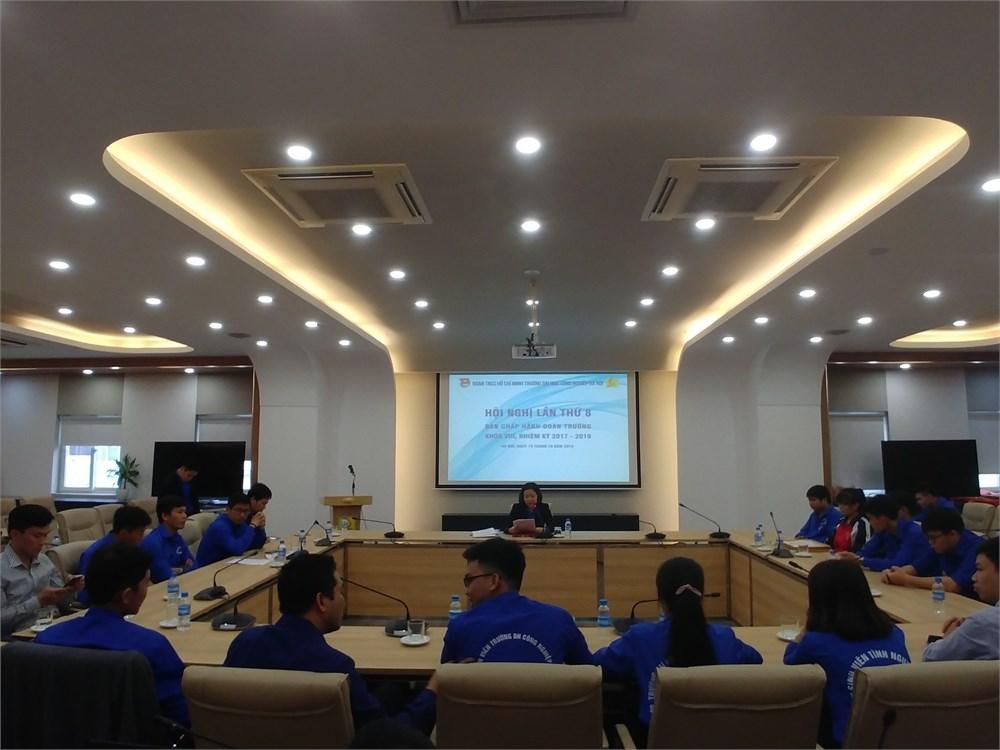 Hội nghị kiện toàn Ban Chấp hành, Ủy ban Kiểm tra Đoàn trường khóa VIII, nhiệm kỳ 2017 – 2019
