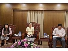 Đại học Công nghiệp Hà Nội làm việc với đoàn cán bộ Trường CĐ nghề kỹ thuật Hữu nghị Viêng Chăn Hà Nội