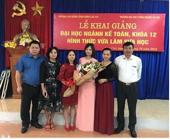 Khai giảng Lớp Đại học vừa làm vừa học tại Lào Cai