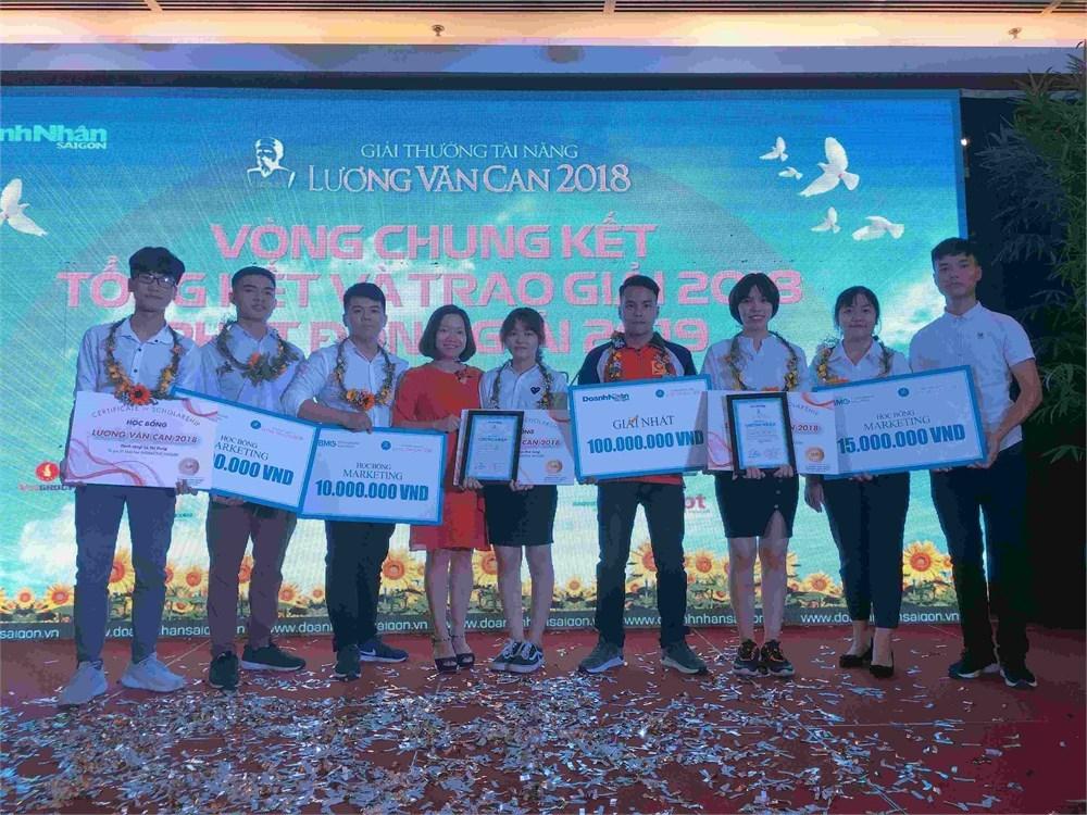Đại học Công nghiệp Hà Nội đạt giải Nhất Chung kết Giải thưởng Tài năng Lương Văn Can 2018