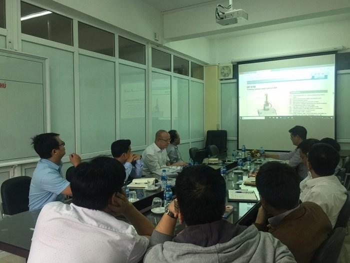 Công ty GUNT Gereatebau / Công ty Thiên Việt Kỹ thuật đến thăm và làm việc với khoa Cơ khí - Trường Đại học Công Nghiệp Hà Nội