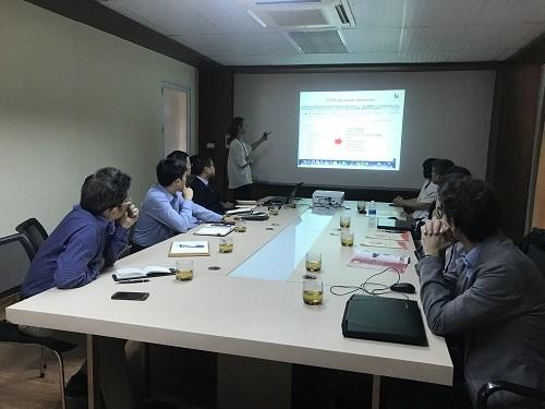 Đoàn trường ĐH Palermo (Italia) tới tham quan và trình bày báo cáo khoa học tại ĐH Công nghiệp Hà Nội