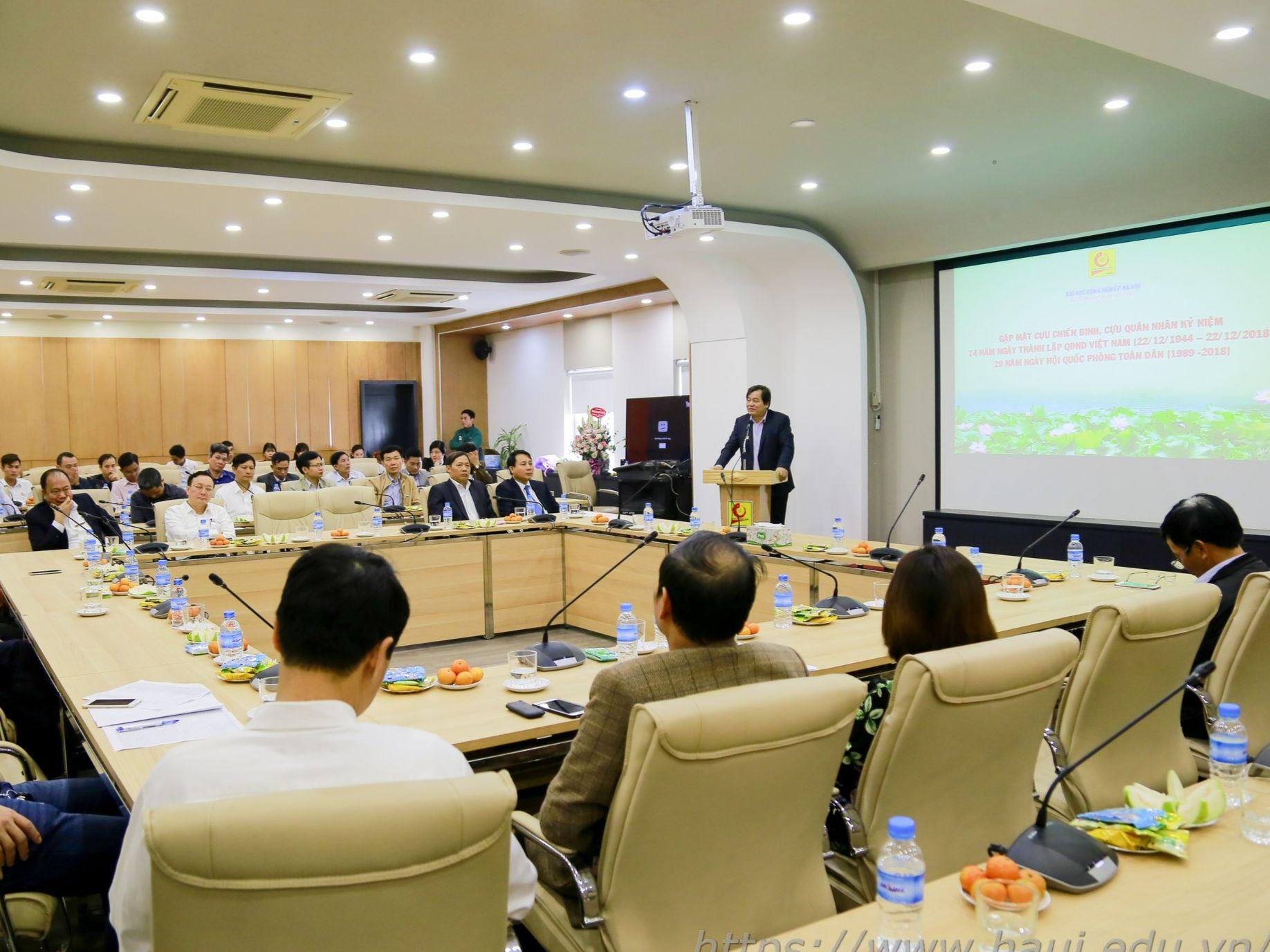 Trường Đại học Công nghiệp Hà Nội tổ chức gặp mặt Cựu chiến binh, Cựu quân nhân