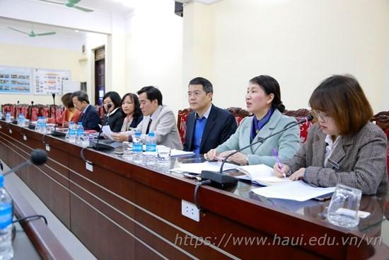 Trường Đại học Kangnam, Hàn Quốc trao đổi hợp tác đào tạo với Trường Đại học Công nghiệp Hà Nội