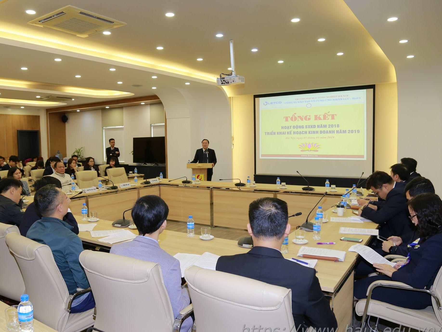 Hội nghị Tổng kết hoạt động sản xuất kinh doanh Công ty Letco năm 2018