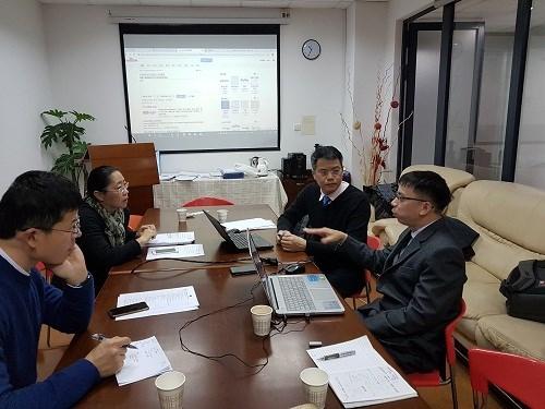 Trường Đại học Công nghiệp Hà Nội sang thăm và làm việc với Trường Đại học Điện lực Thượng Hải, Trung Quốc