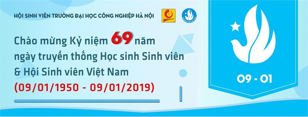 Thông báo tổ chức chuỗi hoạt động chào mừng kỷ niệm 69 năm Ngày truyền thống HSSV và Hội Sinh viên Việt Nam