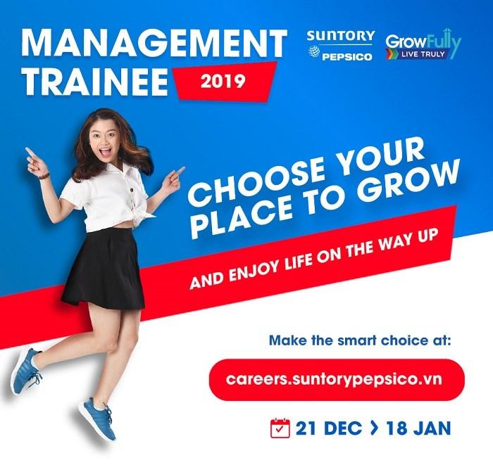 Chương trình tuyển dụng quản trị viên tập sự của công ty TNHH nước giải khát Suntory Pepsico Việt Nam