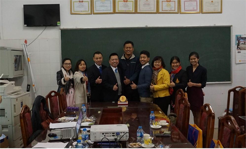 Giao lưu, trao đổi hợp tác Khoa Công nghệ hóa, Trường Đại học Công nghiệp Hà Nội với Khoa Quản lý Môi trường, Trường Đại học Prince of Songkla, Thái Lan