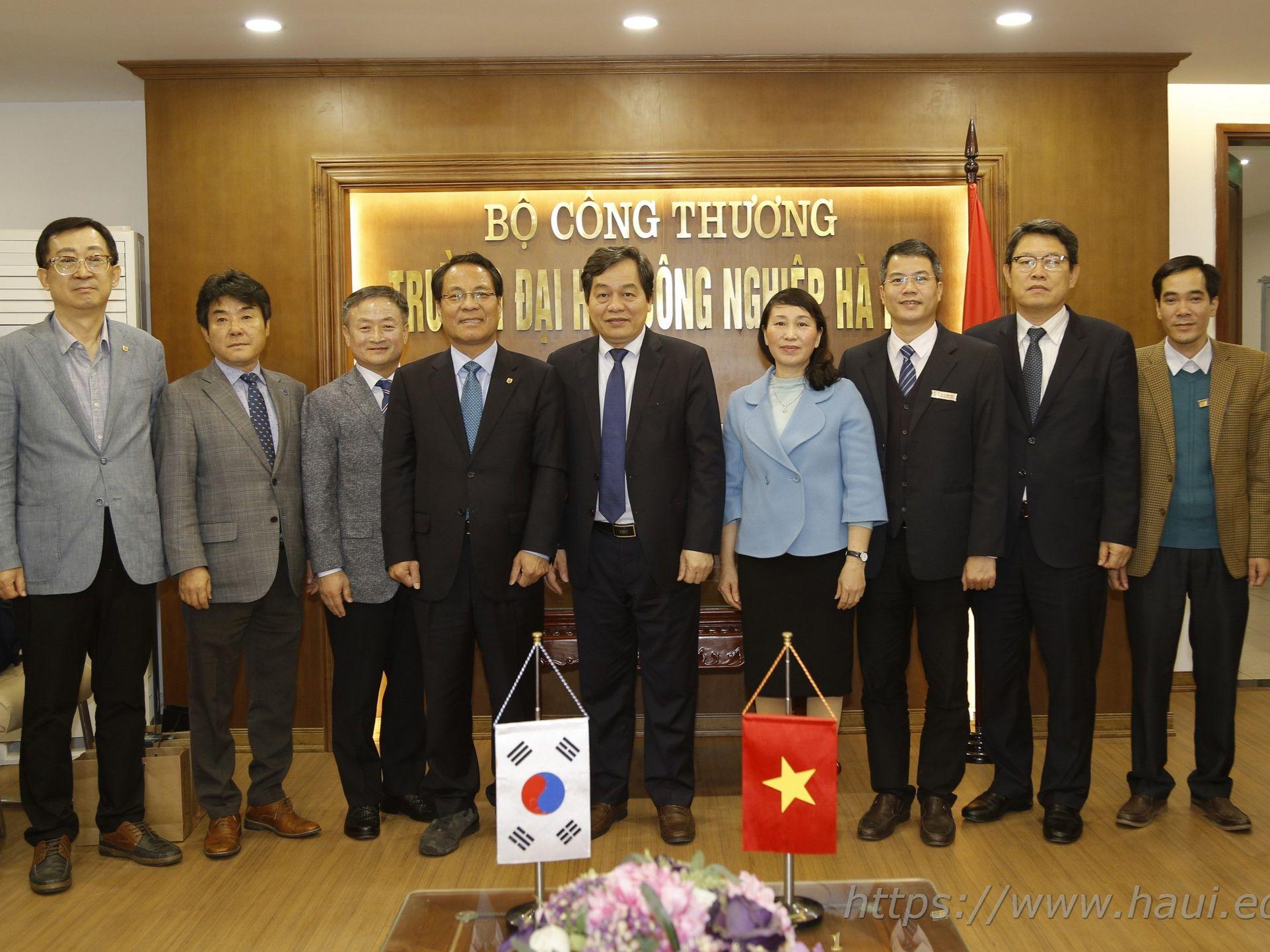 Trường Đại học Hannam, Hàn Quốc đến thăm và làm việc với Trường Đại học Công nghiệp Hà Nội