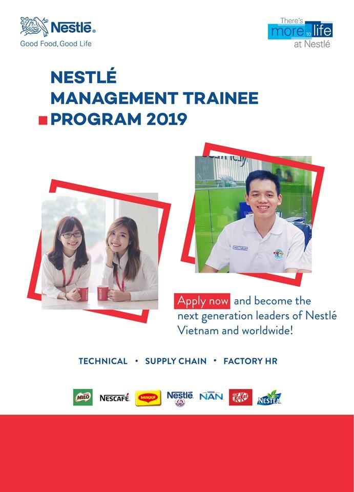 Hội thảo cơ hội việc làm của Công ty TNHH Nestle Việt Nam (Quản trị viên tập sự)