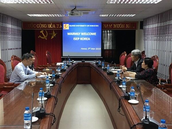 Tiếp và làm việc với chủ tịch tổ chức giáo dục ISEP, Hàn Quốc
