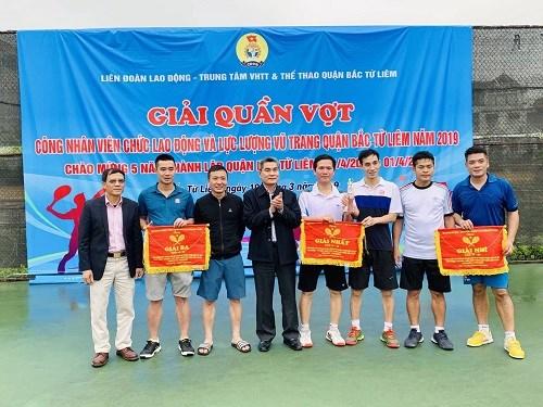 Giải Quần vợt Cán bộ VCLĐ và LLVT quận Bắc Từ Liêm năm 2019