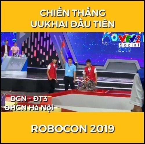 Đội DCN - ĐT3 và DCN - ME của Trường Đại học Công nghiệp Hà Nội giành chiến thắng tuyệt đối trong ngày khai mạc vòng loại Robocon Việt Nam 2019 khu vực phía Bắc