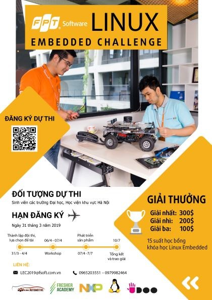 FPT Software - cuộc thi Linux Embedded Challenge 2019