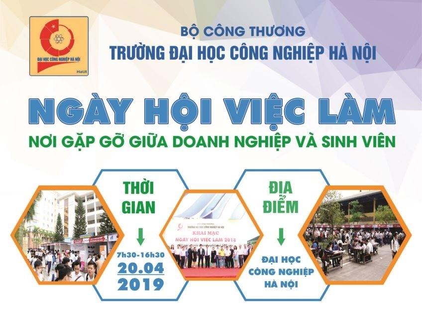 Ngày hội việc làm Trường Đại học Công nghiệp Hà Nội năm 2019