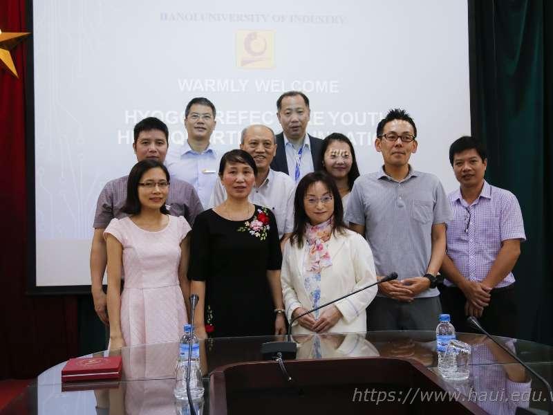 Đoàn công tác tỉnh Hyogo, Nhật Bản thăm và làm việc tại Đại học Công nghiệp Hà Nội