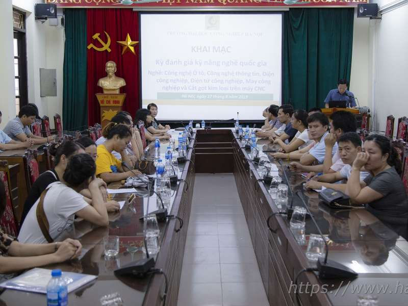 Trường Đại học Công nghiệp Hà Nội tổ chức kỳ đánh giá kỹ năng nghề quốc gia tháng 8 năm 2019
