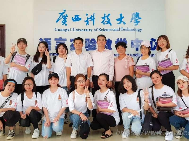 60 Sinh viên Đại học Công nghiệp Hà Nội tham gia chương trình trao đổi sinh viên tại Đại học Khoa học kỹ thuật Quảng Tây - Trung Quốc