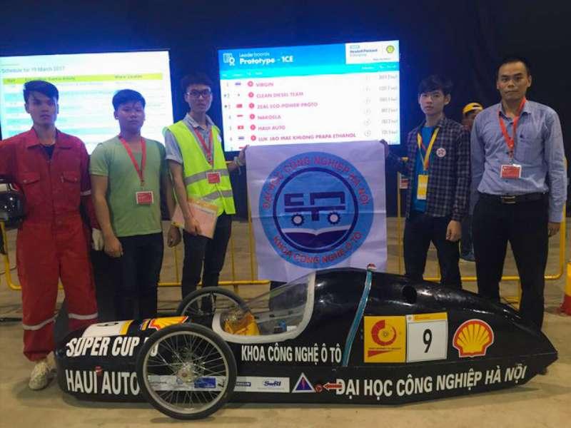 Sinh viên Đại học Công nghiệp Hà Nội thiết kế thành công xe tiết kiệm nhiên liệu